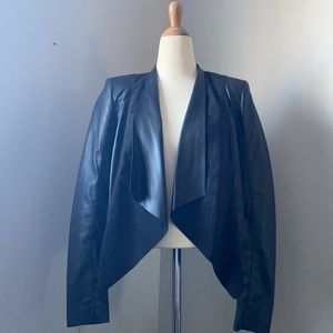 Dynamite Faux Seude and Faux Leather Blazer